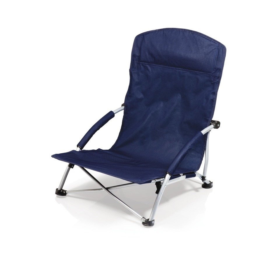 Picnic Time Tranquility Chair Portable Beach Chair   Navy