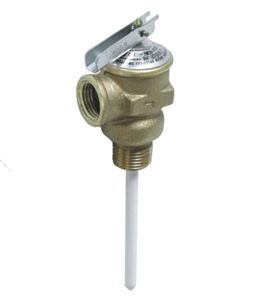 "Camco 10421 Temperature And Pressure 1/2"" Relief Valve With 4"" Epoxy-Coated Probe"