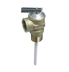 "Camco 10471 Temperature and Pressure 3/4"" Relief Valve with 4"" Epoxy-Coated Probe"