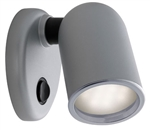 FriLight Tube Adjustable LED Light With Silver Trim & Switch - Blue