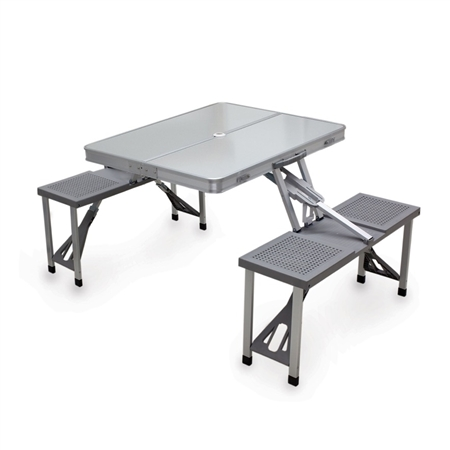 Picnic Time Aluminum Picnic Portable Table and Seats