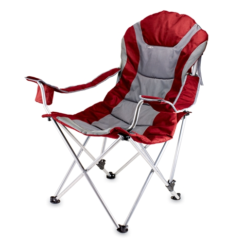 Picnic Time Reclining Camp Chair - Dark Red