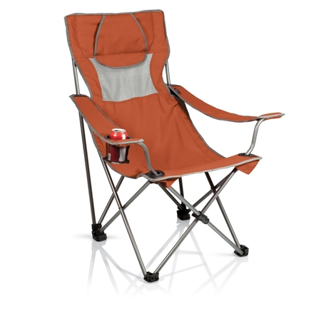 Picnic Time Campsite Chair - Burnt Orange/Grey