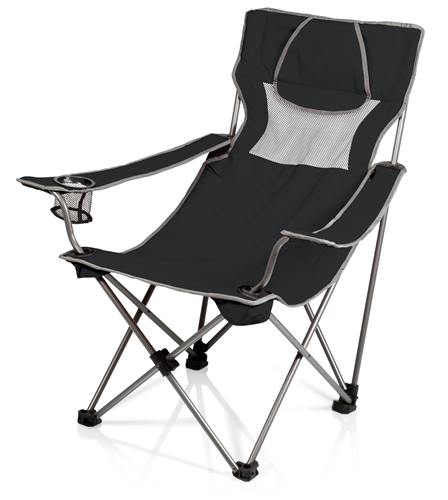 Picnic Time Campsite Chair - Black/Grey