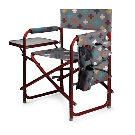 Picnic Time Sports Chair - Pixels Collection