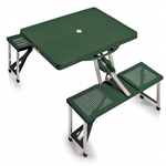 Picnic Time Portable Table and Seats - Hunter Green