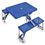 Picnic Time Portable Picnic Table and Seats - Royal Blue