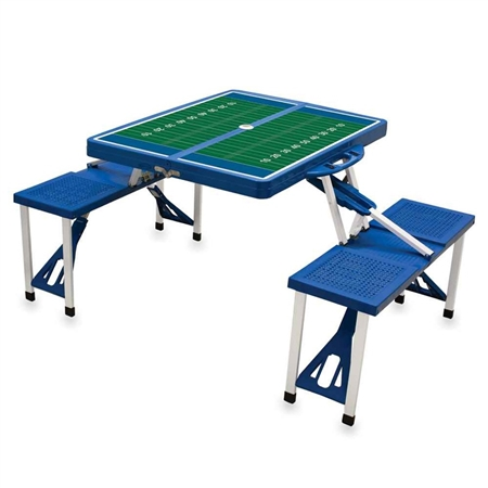 Picnic Time SPORT Portable Picnic Table - Royal Blue with Football Field