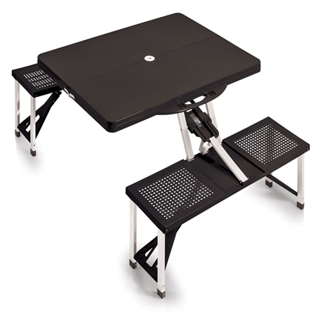 Picnic Time Portable Picnic Table and Seats - Black