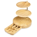 Picnic Time Regalio Serving Tray and Cheese Board - Rubberwood