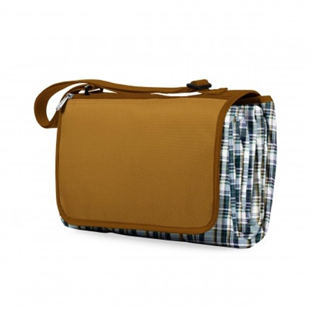 Picnic Time Blanket Tote - English Plaid/Camel