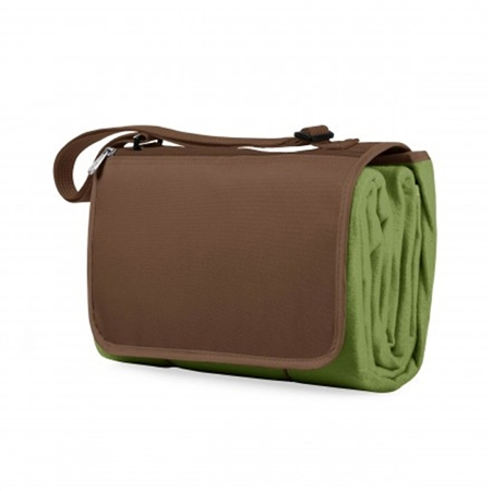 Picnic Time Blanket Tote - Pine Green/Brown