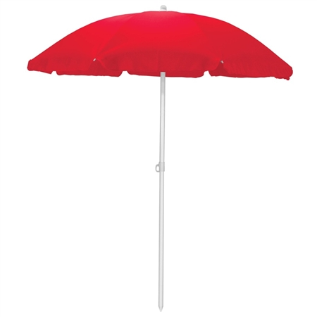 Picnic Time 5.5' Portable Beach/Picnic Umbrella - Red