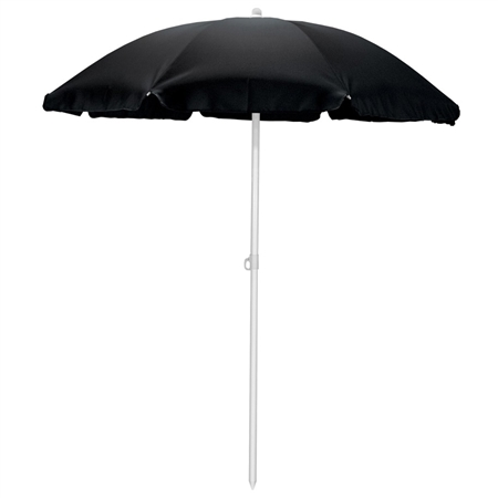 Picnic Time 5.5' Portable Beach/Picnic Umbrella - Black
