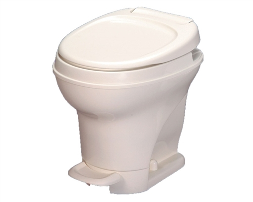Thetford 31671 White Aqua-Magic V Foot Flush High Profile