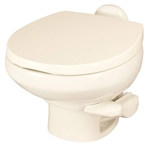 Thetford 42063 Aqua Magic Style II Low Profile RV Toilet Without Water Saver - Bone White