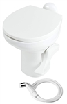 Thetford 42060 Aqua Magic Style II RV Ceramic Toilet High Profile With Sprayer - White