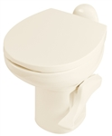 Thetford 42062 Aqua Magic Style II High Profile RV Toilet Without Water Saver - Bone White