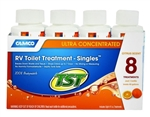 Camco 41191 TST Orange Power RV Toilet Treatment - 4 Oz - 8 Pack