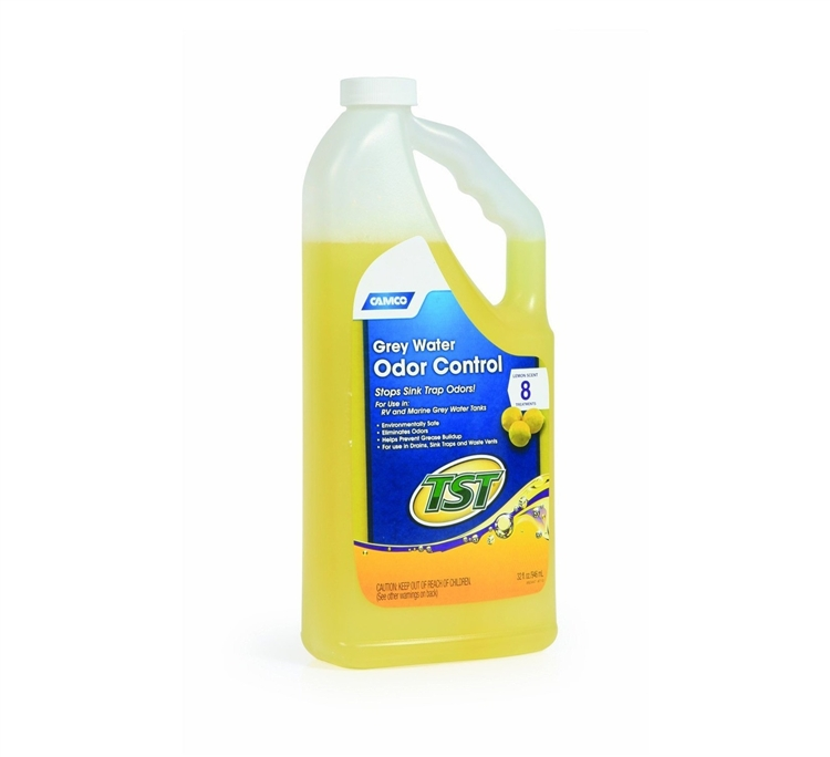 Camco 40252 Tst Lemon Scent Rv Grey Water Odor Control 32 Oz
