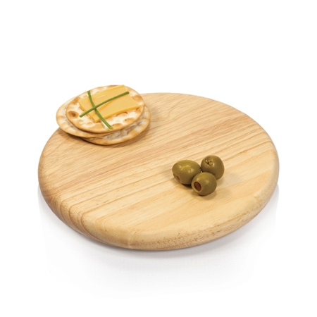 "Picnic Time Round 7"" Cutting Board - Rubberwood"