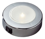 FriLight Sun LED Ceiling Light With Chrome Trim & Switch - Blue