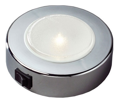 FriLight Sun LED Ceiling Light With Chrome Trim & Switch - 270 Lumens - Warm White