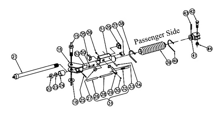 blue ox alpha aventa ii lx passenger side plete leg assembly Pe Diagram