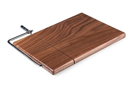 Picnic Time Meridian Black Walnut Cutting Board and Cheese Slicer - Black Walnut