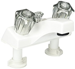 Utopia 20373W21 RV Shower Faucet, White With Smoke Handles