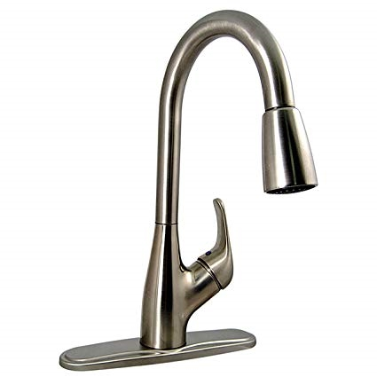 Phoenix SP3105-06-03I Brushed Nickel Hybrid Single Handle Pulldown Kitchen Faucet