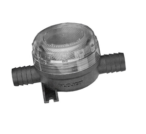 "Flojet Stainless Steel Strainer In line 1/2"" Barb"
