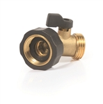 Camco 20173 Brass Water Shut Off Valve - 45 Degree