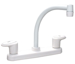 Catalina PF221202 Two Handle Hi-Arc Kitchen Pot Filler RV Faucet, White