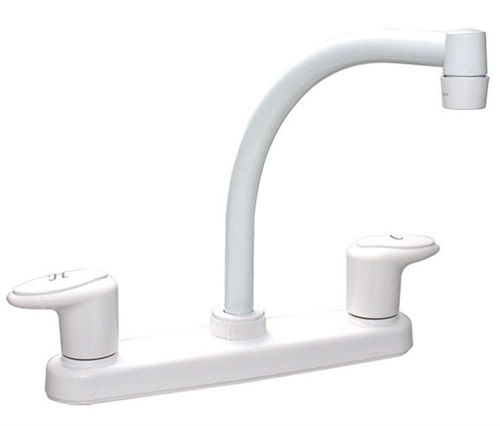 Catalina R5177-I Two Handle Hi-Arc Kitchen Pot Filler, White