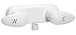 Phoenix PF223241 Two Handle RV Shower Valve, White