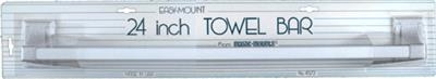 "Magic Mounts 4572W 24"" White Towel Bar"