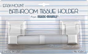 Magic Mounts 4584W Bath Tissue Holder White