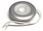 FriLight Nova LED Ceiling Light With Silver Trim - Blue