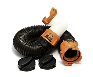 Camco 39768 RhinoFLEX Tote Tank Sewer Hose Kit - 3'
