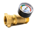 Camco 40064 RV Brass Water Pressure Regulator With Gauge