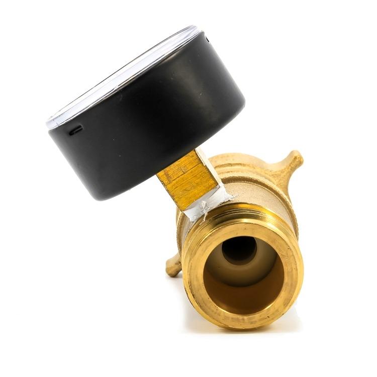 camco 40064 rv brass water pressure regulator with gauge. Black Bedroom Furniture Sets. Home Design Ideas