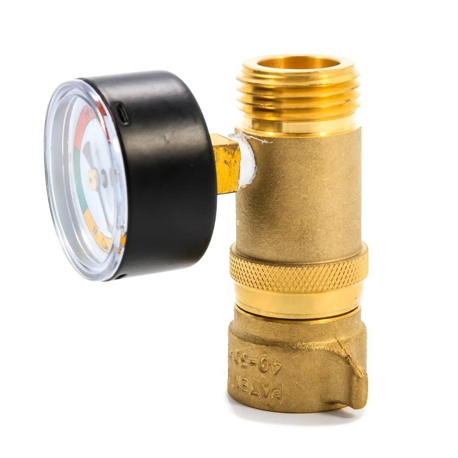 Camco 40064 Rv Brass Water Pressure Regulator With Gauge