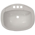 "LaSalle Bristol 16270PWA Single RV Bathroom Sink - 16"" x 20"" - White"