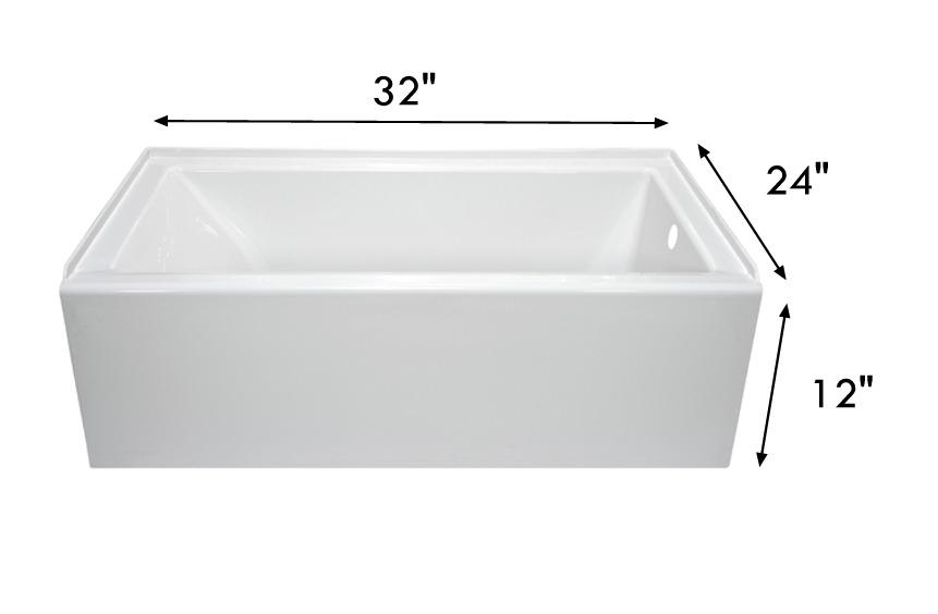 Lyons Dt1832r12 32 X 24 Full Rv Bath Tub