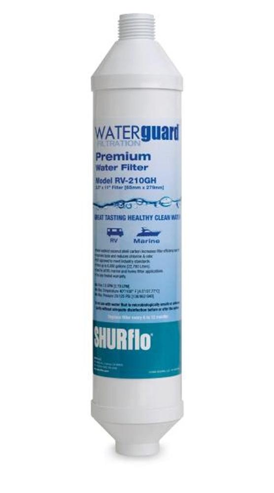 Shurflo Rv210gh Kdf A Waterguarda In Line Garden Hose Filter
