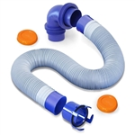 Prest-O-Fit 1-0202 Blueline 10' Quick Connect Sewer Kit - 5 pc.