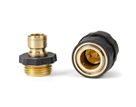 Camco 20135 Quick Hose Connect with Auto Shutoff Valve - Brass