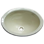 LaSalle Bristol 16156PPA Single Oval Drop-In Sink - Parchment