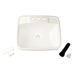 LaSalle Bristol 16186PWA RV Bathroom Sink - White